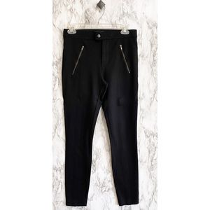 J.crew front snap pixie pant zipper pocket black